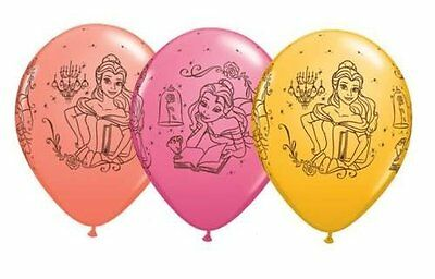 "11"" Disney Princess Belle Beauty and the Beast Latex Balloons Helium Party Fun"