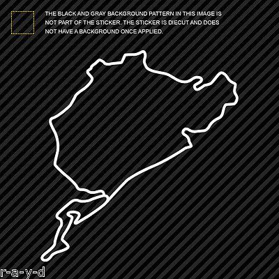 Nurburgring Sticker Die Cut Decal track