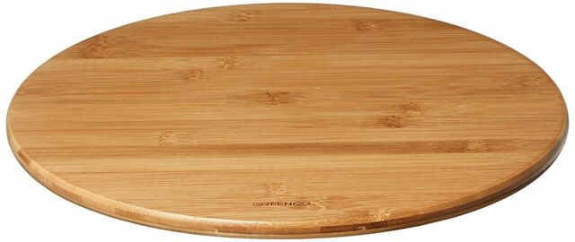 Turntable Parts Accessories Wood Lazy Susan Vintage Display Kitchen Table  14 In