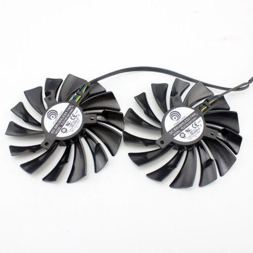 2pcs//set pour MSI GTX1080Ti//1080//1070Ti//1070//1060 RX580//570 Armor VGA Cooler Fan