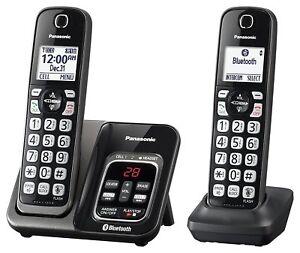 panasonic kx tgd562m bluetooth cordless phone with voice assist 2 rh ebay com