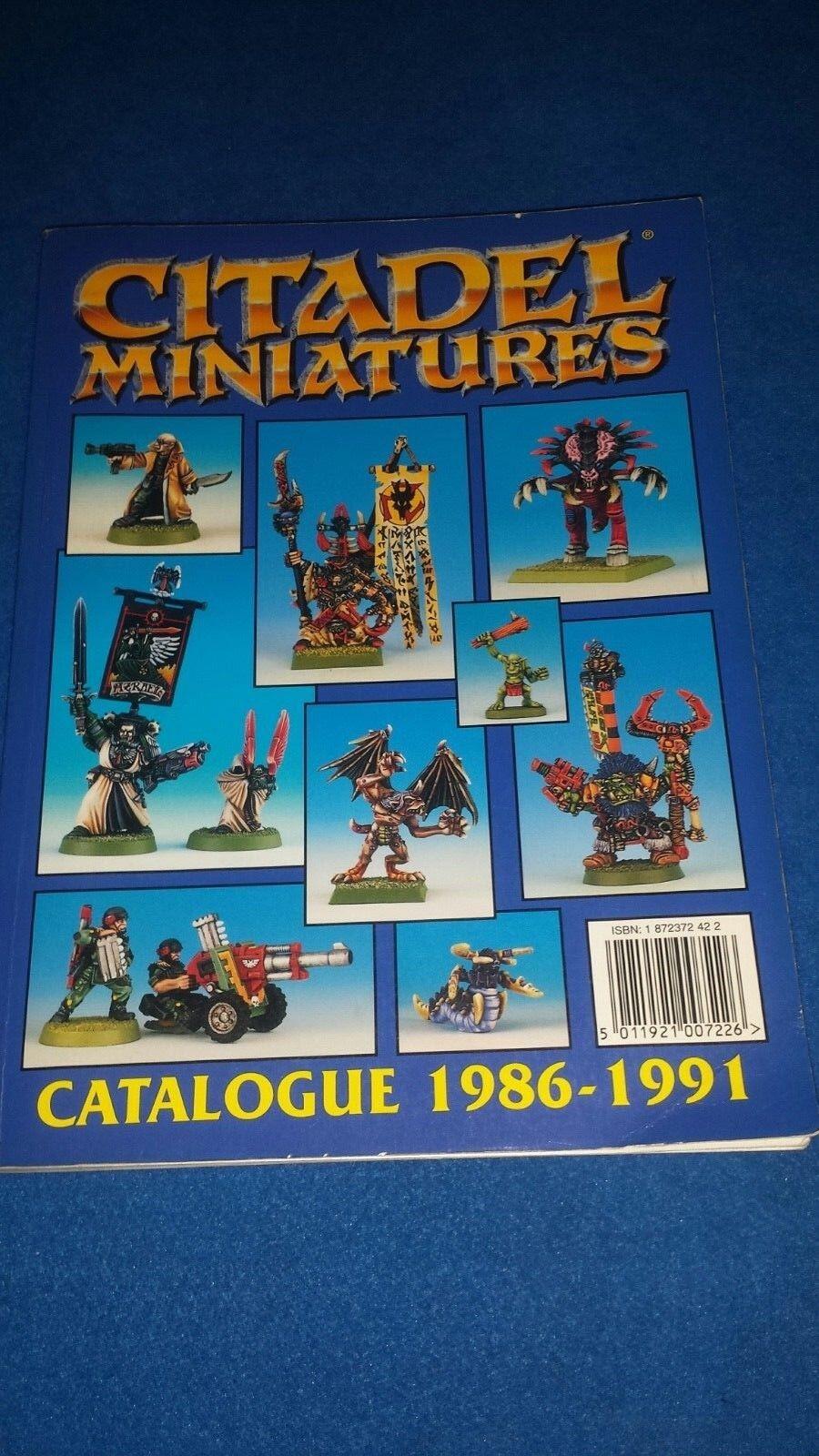 alta qualità generale Warhammer CITADEL MINIATURES MINIATURES MINIATURES CATALOGUE 1986-1991  più economico