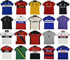 Polo Ralph Lauren Custom Slim Fit Big Pony World Cup Country Shirt New