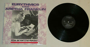 EURYTHMICS-amp-ARETHA-FRANKLIN-SISTERS-ARE-DOIN-039-IT-FOR-THEMSELVES-12-034-W-PS-LP