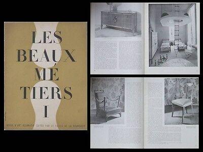 ANDRE ARBUS CATALOGUE 1937 ART DECO - FURNITURE, PARIS LES BEAUX METIERS