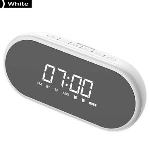 Baseus-Night-light-Bluetooth-Speaker-With-Alarm-Clock-Function-White