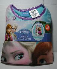 New Girls Disney FROZEN Fleece NIGHTGOWN Sleep Gown Sleepwear Set Size 7/8