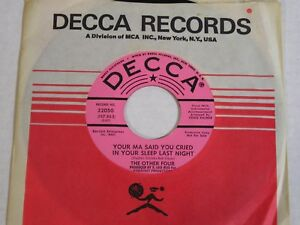 The-Other-Four-Your-Ma-Said-You-Cried-In-Your-Sleep-1966-Garage-PROMO-45-NOS