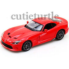 Maisto 2013 Dodge Viper SRT GTS 1:24 Diecast Model Toy Car 34271 Red