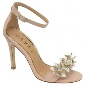 Image is loading Ladies-Ravel-Conway-Nude-beige-Stiletto-Wedding-Evening-