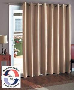 Details About Wide Blackout Patio Two Curtain Sliding Door Window Panel Polyester Four Colors