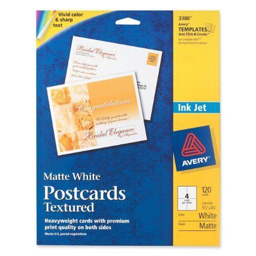 "120 // Box AVE03380 Avery Invitation Card 4.25/"" X 5.50/"" White Matte"