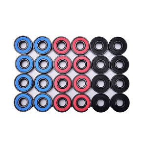 8pcs/set 608RS skate skateboard steel integrated spacer bearings fit TSCA