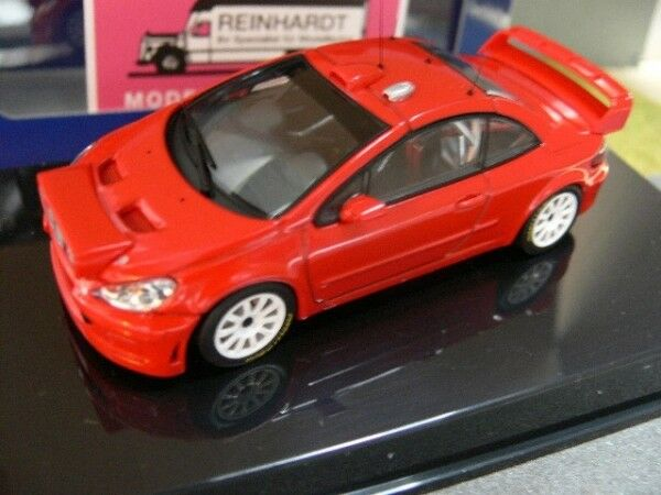 1 43 Autoart Peugeot 307 WRC PLAIN BODY VERSION ROUGE 60557