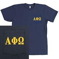 Alpha Phi Omega Service Fraternity Bella + Canvas Pocket Shirt - More Colors