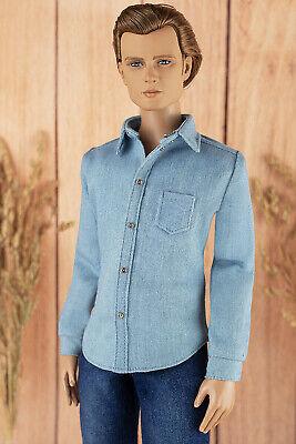 """ELENPRIV light blue denim pants for 16/"""" Tonner Homme Matt O/'Neill body dolls"""