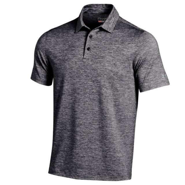 3d2c4a48 Under Armour UA Elevated Heather 2015 Black Golf Shirt XL for sale ...