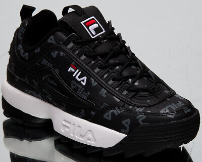 Fila Disruptor Logo Low Womens Black Casual Lifestyle Sneakers Shoes 1010748 25Y | eBay