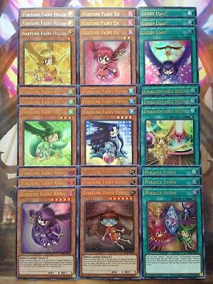27 Card Fortune Fairy Deck Core All Holo Yu-Gi-Oh BLHR 1st Edition Near Mint+