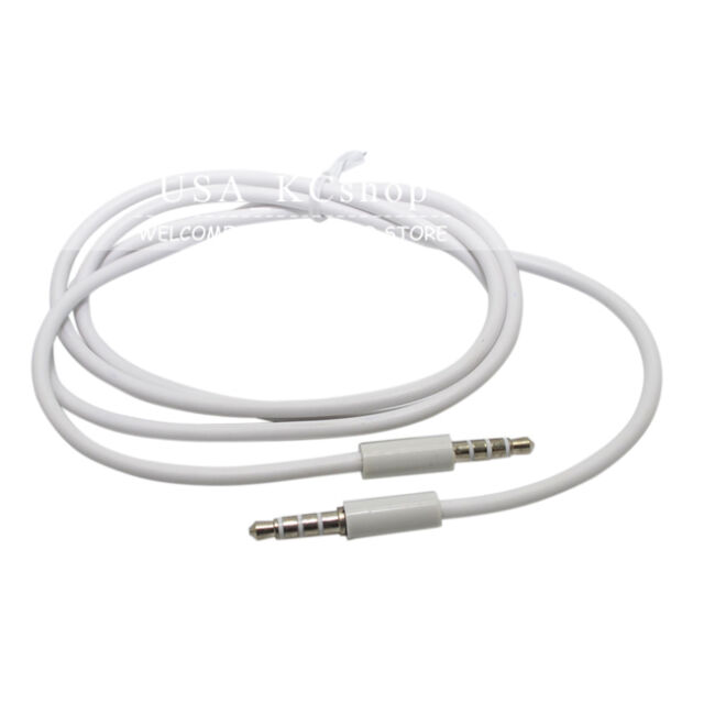 """New 3pcs 4ft 3.5mm 1/8"""" Male to Male Stereo Audio AUX Cable for iPod Car MP3 PC"""