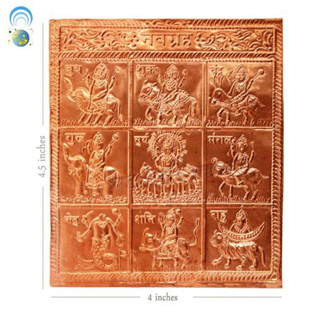 Navgraha Copper Pratima, Nine Planet Pratima- Vedic Vaani