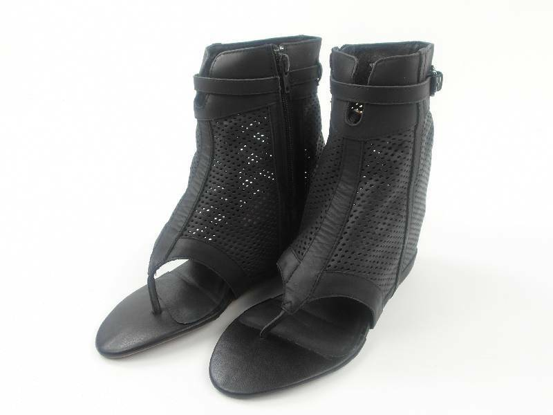 original 8020nyc Schuhe Sandale Zehentrenner Sophie schwarz Leder NEU