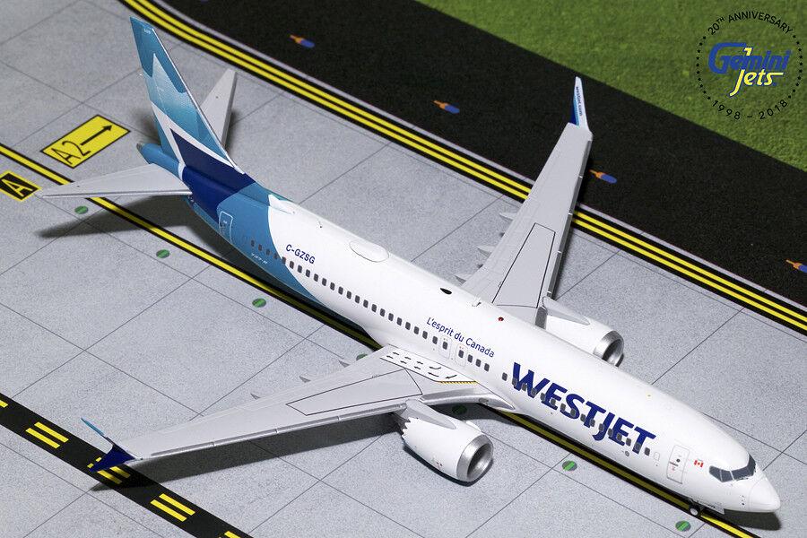 WestJet Boeing 737 Max 8 C-gzsg Gemini Jets G2WJA783 escala 1 200
