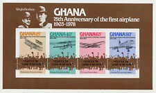 Ghana 1978 MNH Wright Brothers 75th Ann First Airplane CAPEX OVPT 4v MS Concorde