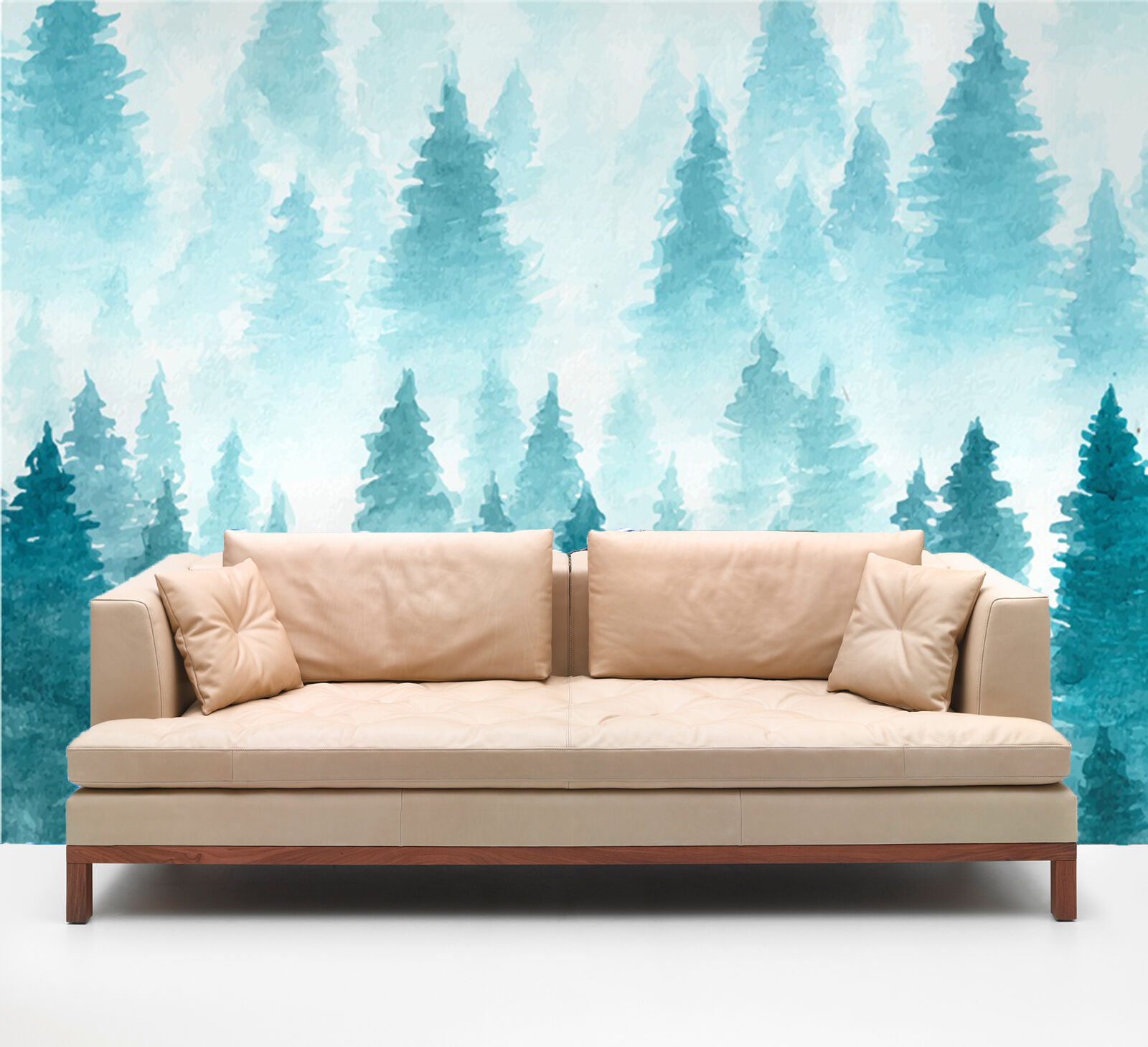 3D WaterFarbe Trees 824 WallPaper Murals Wall Print Decal Wall Deco AJ WALLPAPER
