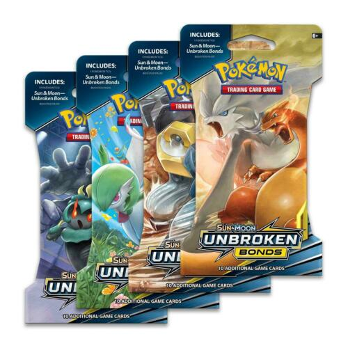 Sun /& Moon Unbroken Bonds Sleeved Booster Pack Pokemon TCG