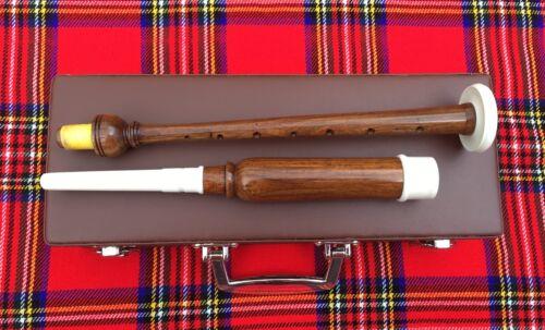 Great Highland Dudelsack Practice Chanter Palisander mit Hartschale //