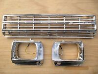 Toyota Hilux Pickup 1982 Rn45 Chrome Grille Bezel Light Case 2wd With Clips