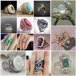 REAL 925 SOLID SILVER ABALONE SHELL WOMEN HEAVY HANDMADE FINE RING JEWELRY RING