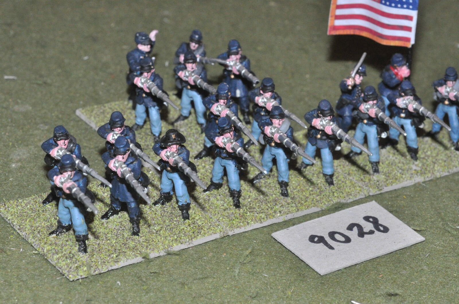 25mm ACW   union - american civil war 20 infantry figs metal - inf (9028)