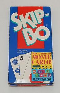 1995 Mattel Skip Bo Card Game 100 Complete In Original Box With