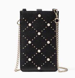 best sneakers 80b83 44492 Kate Spade pearl phone iphone Sleeve crossbody bag Pouch Wallet ~NWT ...