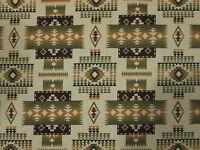 Navajo Indian Sage Green Tan Brown Overall Print Cotton Fabric FQ