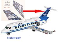 Lego City Custom Jet Blue Stickers For 3181 Passenger Plane Jetblue 3182