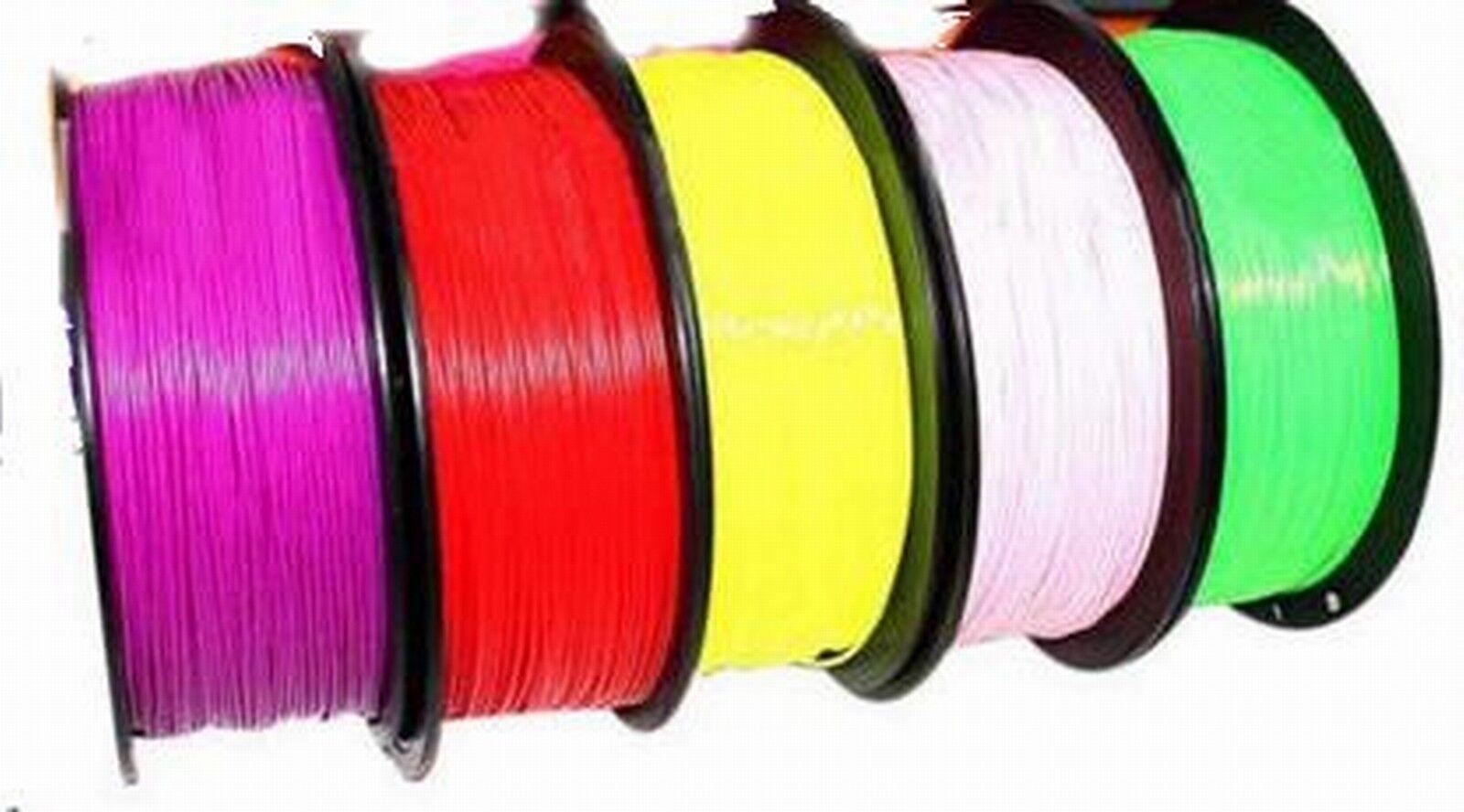3D Printer Filament 1.75mm ABS 700g roll Multi-colours