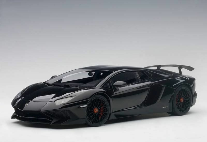1 18 Autoart 74556 Lamborghini Aventador Lp750-4 Sv black Aldebaran Gloss