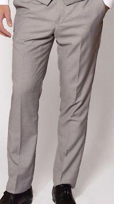 Men's Argento Grigio Chiaro Matrimonio Formale Business Lavoro Cene Formali Pantaloni-mostra Il Titolo Originale