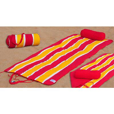 Beach Mat Set Beach Mat + Neck Roll Wave Ideal Replacement of Beach Towel