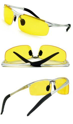 Agstum Night Vision Driving Polarized Glasses Anti Glare Unbreakable Metal