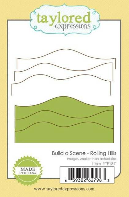 TAYLORED EXPRESSIONS  BUILD A SCENE - ROLLING HILLS  DIE  TE187   NIP