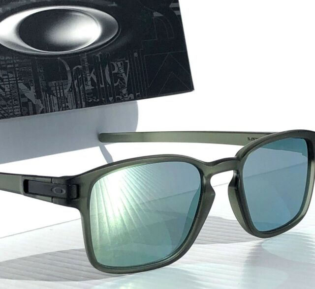 9bfb6db8c8c NEW  Oakley LATCH SQ Matte Olive Ink w EMERALD Grey lens Sunglass oo9358-08