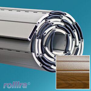 Alu Rolläden alu rolladen panzer behang rollladen a55g holz dunkel rolladenbehang