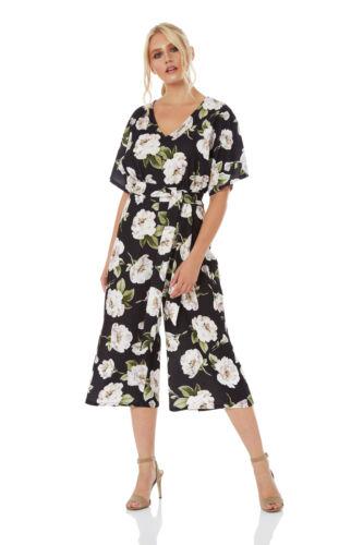 Roman Originals Women Wide Leg Wrap Culotte Jumpsuit