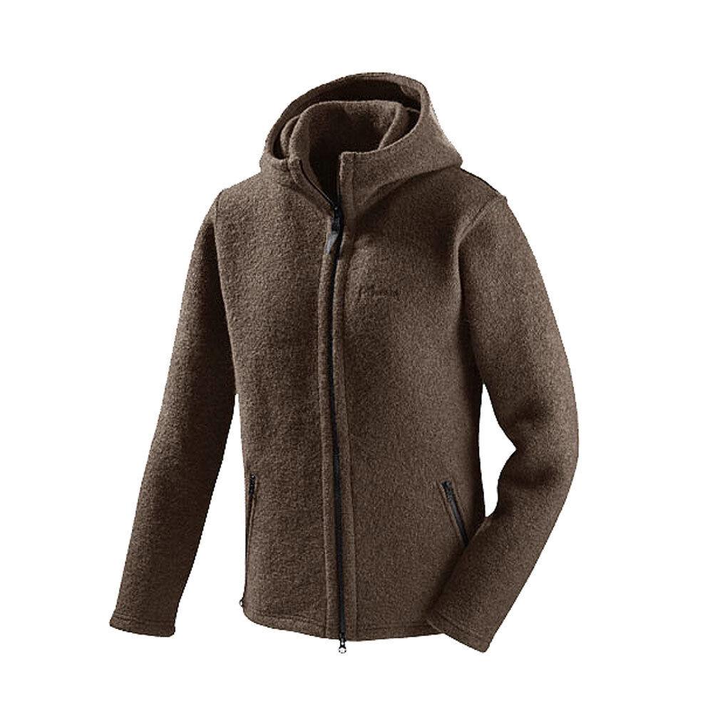 Mufflon messieurs walk-veste avec capuche et col montant laine vierge
