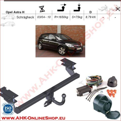 Gancio traino Opel Astra H Hatchback 04-10 elettrico 13-poli PDC OMOLOGAZIONE