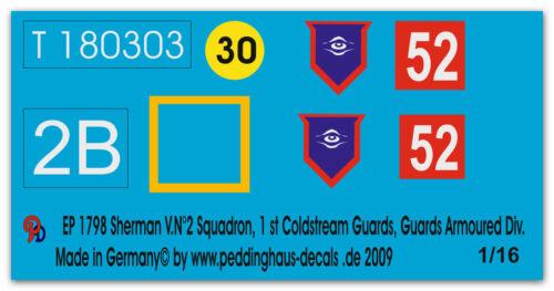 1 st Coldstream Guards Guards Ar Peddinghaus  1798 1//16 Sherman VN° 2 Squadron